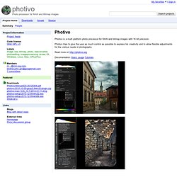 photivo - Photo processor for RAW and Bitmap images