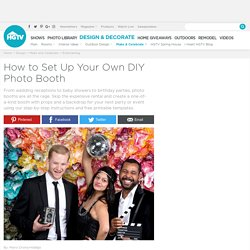 How to Set Up a DIY Photo Booth With Props and Backdrop