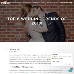 Top 6 Photo Booth Trends For 2018 Weddings!
