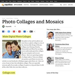 Photo Collages and Mosaics