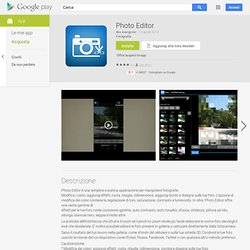 Photo Editor - App Android su Google Play