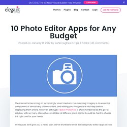 10 Photo Editor Apps for Any Budget