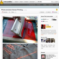 Photo-emulsion Screen Printing