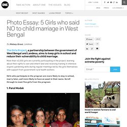 Photo Essay: 5 Girls who said NO to child marriage in West Bengal