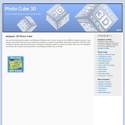 Create a 3D Photo Cube for MySpace | Photo Cube 3D