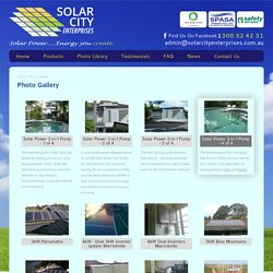 Photo Gallery - Solar City Enterprises