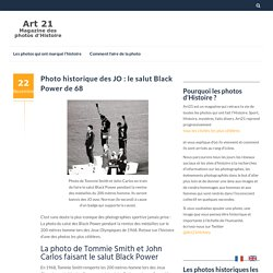Photo historique des JO : le salut Black Power de 68 - Art 21