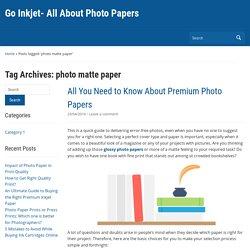 photo matte paper