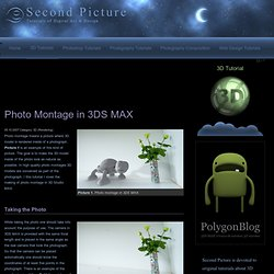 Photo montage with camera match in 3d studio max