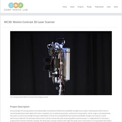 Comp Photo Lab » MC3D: Motion Contrast 3D Laser Scanner