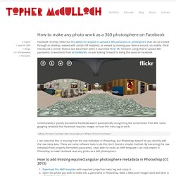 How to make any photo work as a 360 photosphere on Facebook