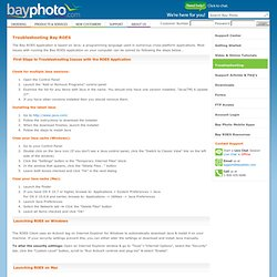 Bay Photo Lab — Support | Troubleshooting Bay ROES