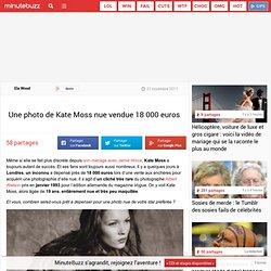 Une photo de Kate Moss nue vendue 18 000 euros
