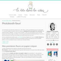 Photobooth fleuri - La tête dans les idées