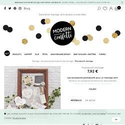 Photobooth mariage - Modern Confetti