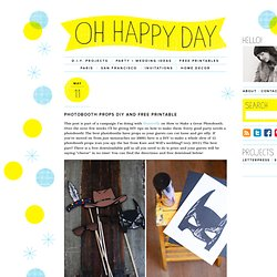 Photobooth Props DIY and Free Printable