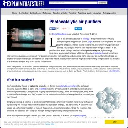 How do photocatalytic air purifiers work?