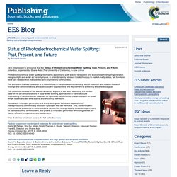 Status of Photoelectrochemical Water Splitting: Past, Present, and Future « EES Blog