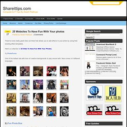 25 Websites To Have Fun With Your photos - Photofunia | Online photo editor | Shareittips.com