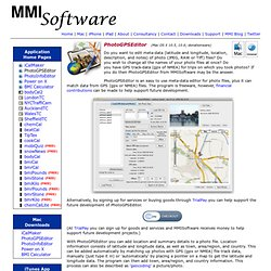 PhotoGPSEditor - MMISoftware - Makers of software for Mac OS X, the iPhone and the iPod Touch