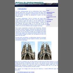 Notions de photogrammétrie - Stéréoscopie