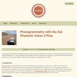 Photogrammetry with the DJI Phantom Vision 2 Plus