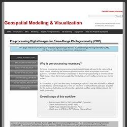Pre-processing Digital Images for Close-Range Photogrammetry (CRP)