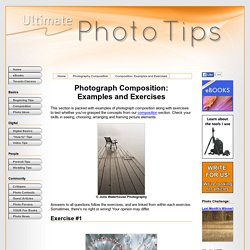 Photograph Composition: Examples and Exercises