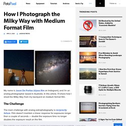 How I Photograph the Milky Way with Medium Format Film