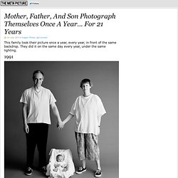 Mother, Father, And Son Photograph Themselves Once A Year… For 21 Years
