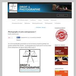 Photographe et auto-entrepreneur