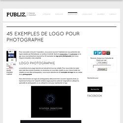 45 exemples de logo pour photographe