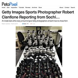 Getty Images Sports Photographer Robert Cianflone Reporting from Sochi…
