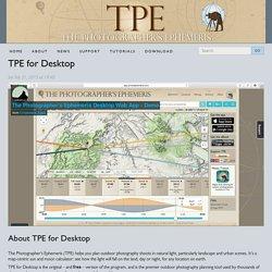 The Photographer's Ephemeris: TPE for Desktop