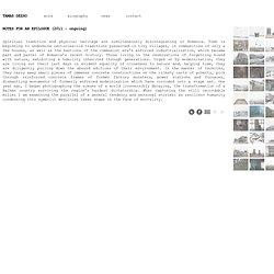TAMAS DEZSO PHOTOGRAPHER - NOTES FOR AN EPILOGUE (2011 - ongoing)