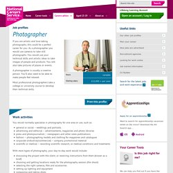 Photographer Job Information