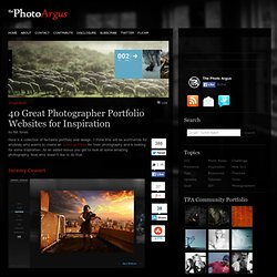 40 Great Photographer Portfolio Websites for Inspiration