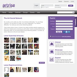 Artrise: Art Social Network + Artist Portfolio Website, Art Industry, Musician, Photographer Networking
