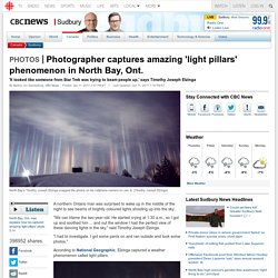 Photographer captures amazing 'light pillars' phenomenon in North Bay, Ont. - Sudbury