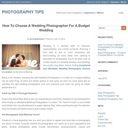 Choosing a wedding Photographer by 4 Easy Steps