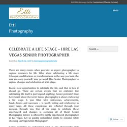 Las Vegas Senior Photographer are experts in photo shoot of any event