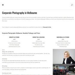 Corporate Photographer Melbourne