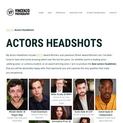 Actor Headshots, Premier Actor Headshots Photographer London