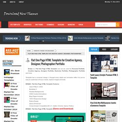 Flat One Page HTML Template for Creative Agency, Designer, Photographer Portfolio - Download New Themes