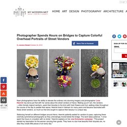 Colorful Overhead Portraits of Street Vendors click 2 x