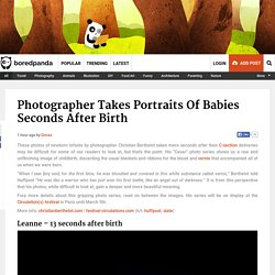 Photographer Takes Portraits Of Babies Seconds After Birth