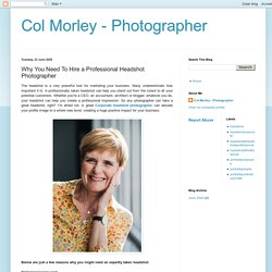 Why You Need To Hire a Professional Headshot Photographer