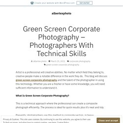 Green Screen Corporate Photography – Photographers With Technical Skills – albertexphoto