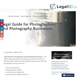 Photographers Legal Guide to Copyright, Contracts & Release Forms
