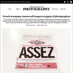 French newspaper removes all images in support of photographers